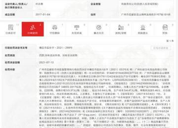 """广州乐居日化用品有限公司因""""产品质量违法行为""""被行政处罚"""